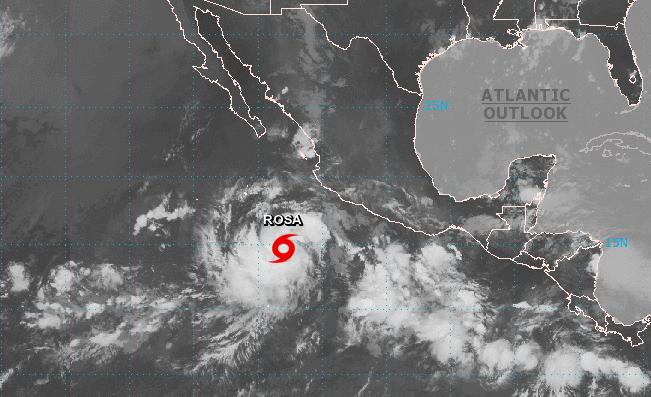 Se forma la tormenta tropical Rosa al suroeste de Manzanillo