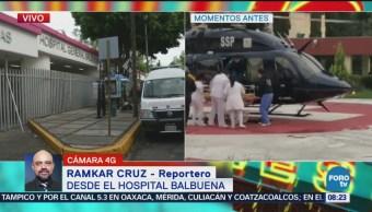 Trasladan a herida por balacera a Hospital Balbuena