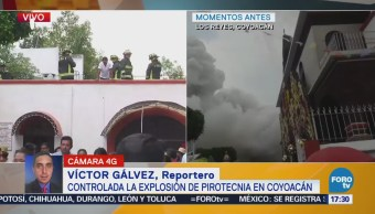 Trasladan a hospital a heridos por explosión en Coyoacán