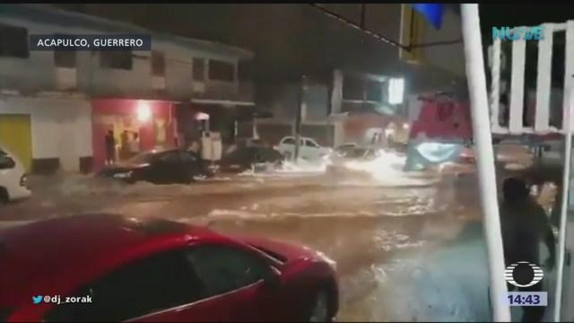 Tromba azota a Acapulco