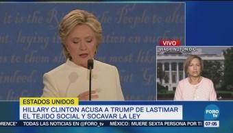 Trump lastima el tejido social y socava la ley Clinton