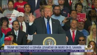 Trump recomienda a España construir un muro en el Sahara