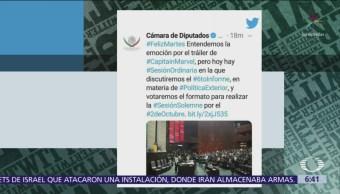 Twitter del Senado desata polémica por mensaje morenista