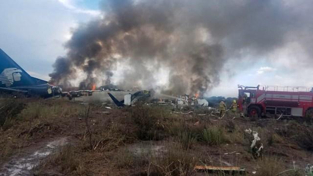 Aeroméxico despide a pilotos del accidente en Durango
