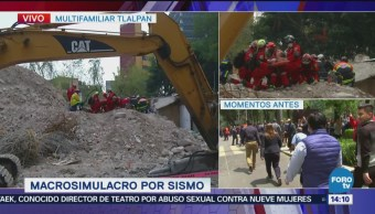 Utilizan Terreno Escombros Durante Simulacro 19S