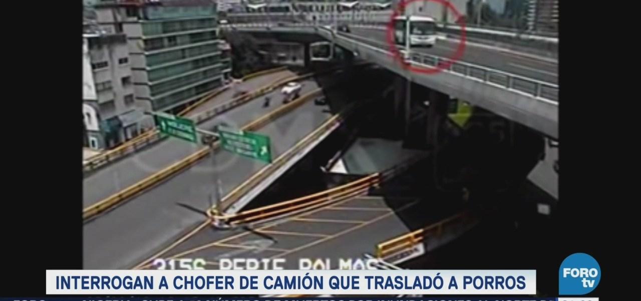 Interrogan Chofer Camión Trasladó Porros CU