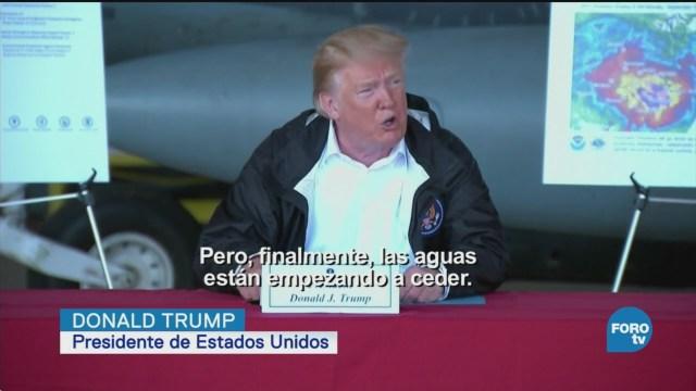 Trump Promete Apoyo Damnificados Huracán Florence