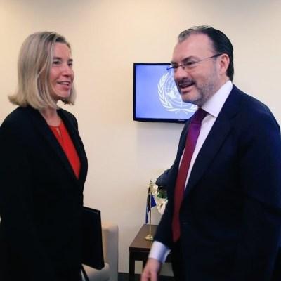 Luis Videgaray se reúne con alta representante de la Unión Europea