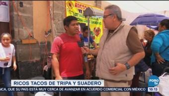 Viernes Culinario Tacos de tripa y suadero