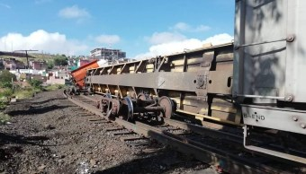 descarrilan vagones tren carguero zacatecas proteccion