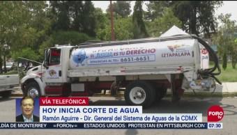 480 colonias de CDMX serán afectadas por corte de agua