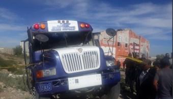 Accidente tren y camión Ciudad Juárez deja 15 lesionados