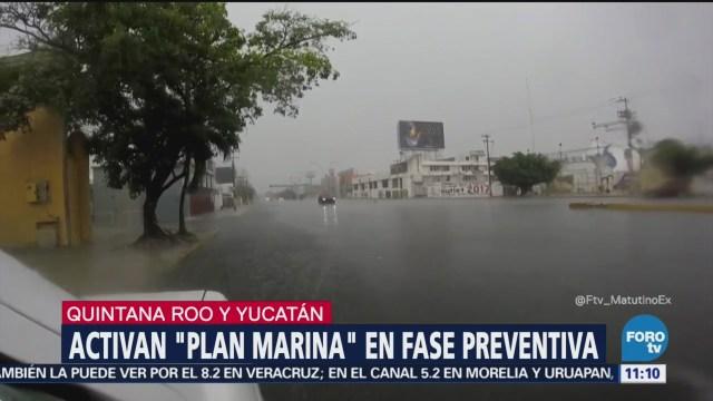 Activan 'Plan Marina' en fase preventiva en Yucatán