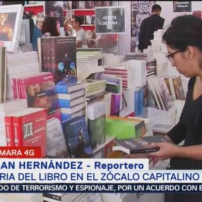 Actividades de la Feria del Libro de la CDMX en el Zócalo