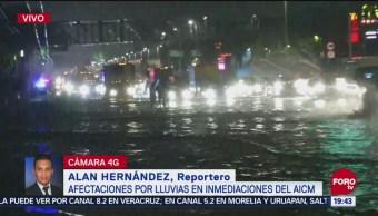 Afectaciones Lluvias Inmediaciones Del AICM Aeropuerto