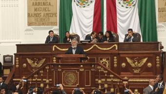 Alejandro Encinas se despide del Congreso de la CDMX