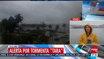 Alerta en Colima por la tormenta Tara