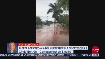 Alerta por cercanía de huracán Willa en Sinaloa