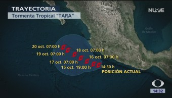 Alerta por tormenta tropical 'Tara'