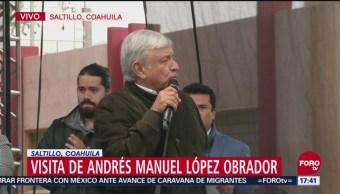 AMLO realiza mitin en Coahuila