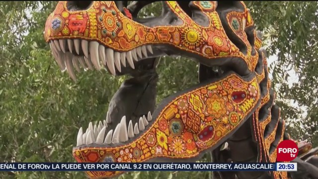 Arte Huichol Dinosaurios Saltillo Coahuila Exhibición