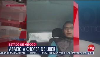 Asalto a chofer de Uber en Edomex