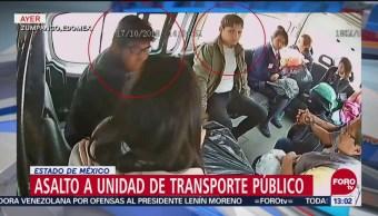 Asalto a transporte público en Los Reyes-Zumpango