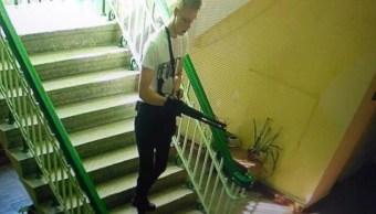 Video de masacre en secundaria de Crimea es difundido