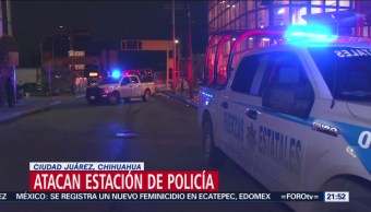Atacan Estación Policía Ciudad Juárez, Chihuahua