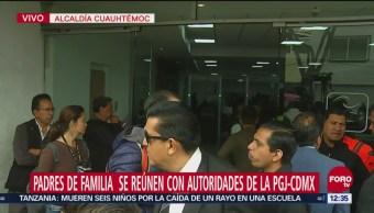 Atienden a padres de niños presuntamente abusados sexualmente en San Juan de Aragón
