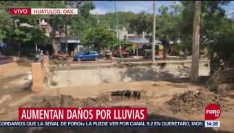 Aumentan Daños Lluvias Huatulco Oaxaca
