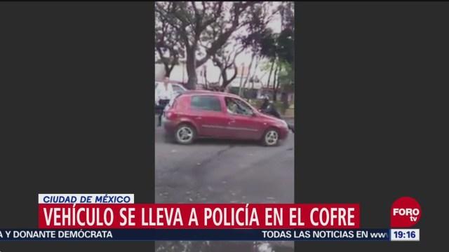 Automovilista Arrastra Policía Ciudad De México Azcapotzalco