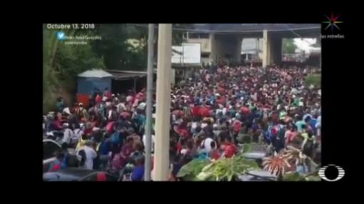 Avanza Caravana Hondureños Trump Exige Frenarla