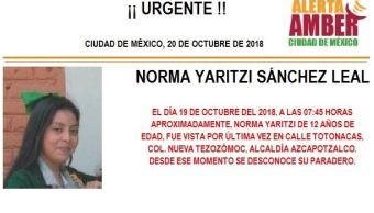 Alerta Amber: Piden ayuda para localizar a Norma Sánchez