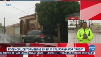Baja California, en alerta por el arribo de la tormenta Rosa