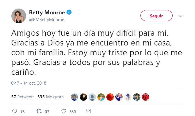 Betty Monroe habla tras secuestro exprés: