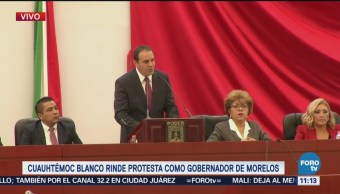 Cuauhtémoc Blanco rinde protesta como gobernador de Morelos