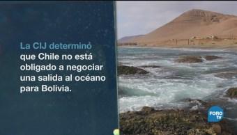 Bolivia Chile Disputa Con Vista Mar Política