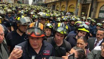 Bomberos protestan contra despidos injustificados en la CDM