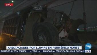 Camión Choca Vehículos Autopista México Querétaro
