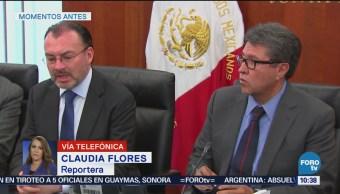 Canciller Luis Videgaray se reúne con Martí Batres