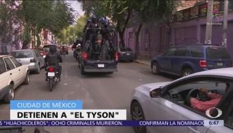Capturan a El Tyson, presunto integrante de La Unión Tepito
