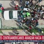 Caravana de migrantes llegan a Mapastepec, Chiapas