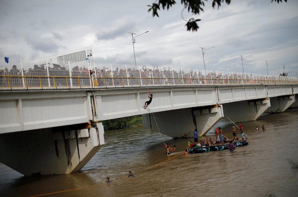 Caravana migrante frontera sur México