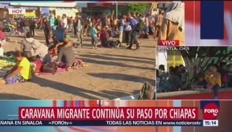 Caravana migrante reanudan caminata rumbo a EU