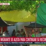 Caravana migrante se alista para continuar su recorrido