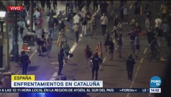 Cataluña referéndum: Se registran enfrentamientos por aniversario de consulta