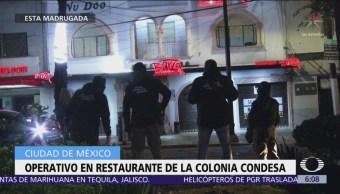 Catean y aseguran un restaurante bar en la Condesa, CDMX