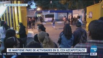 CCH Azcapotzalco se mantiene en paro activo