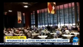 Ceteg Revienta Foro Educativo Acapulco Guerrero